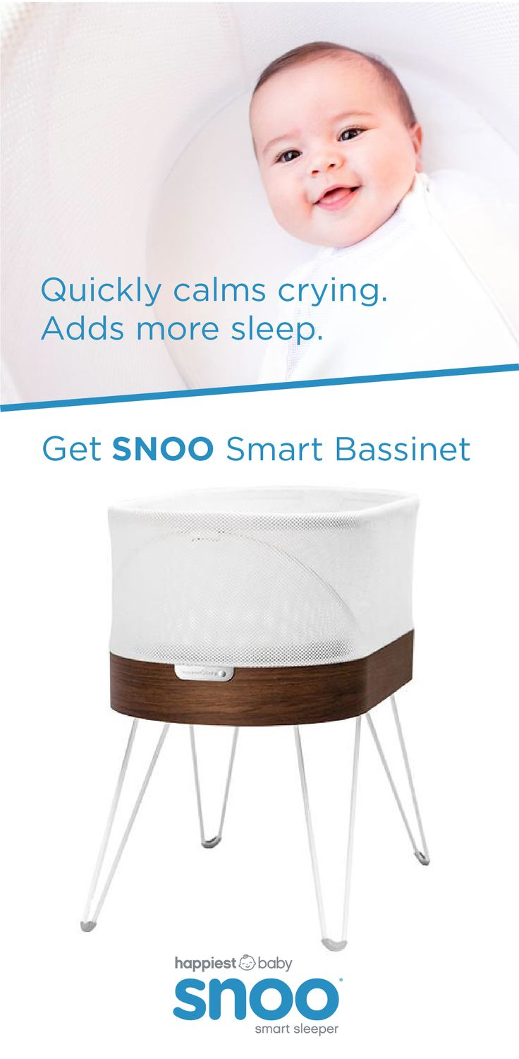 Get 1-2+ more hours of sleep with SNOO smart bassinet. Created by Dr. Harvey Karp, author of Happiest Baby on the Block, SNOO is the only smart bassinet that automatically responds to soothe your baby with gradually stronger levels of white noise and motion.
