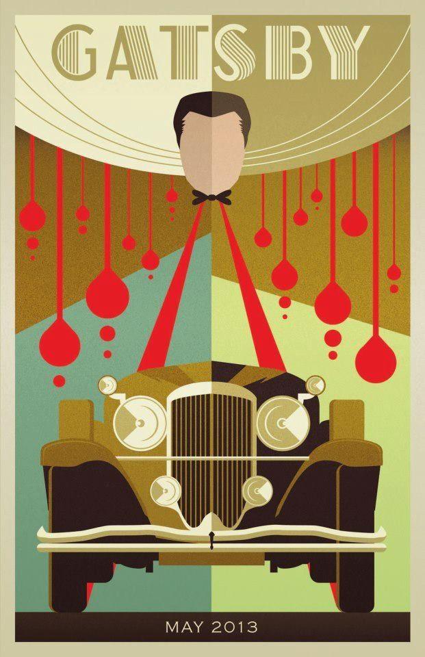 The Great Gatsby (2013)   Art Poster   Art Deco Ideas