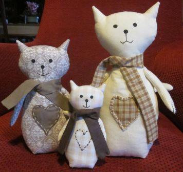 la casita Sylvie: Pequeños gatos tela