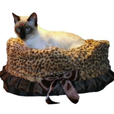 Cheetah & Brown Dog Bed, Carrier, Car Seat Combo - $119.00
