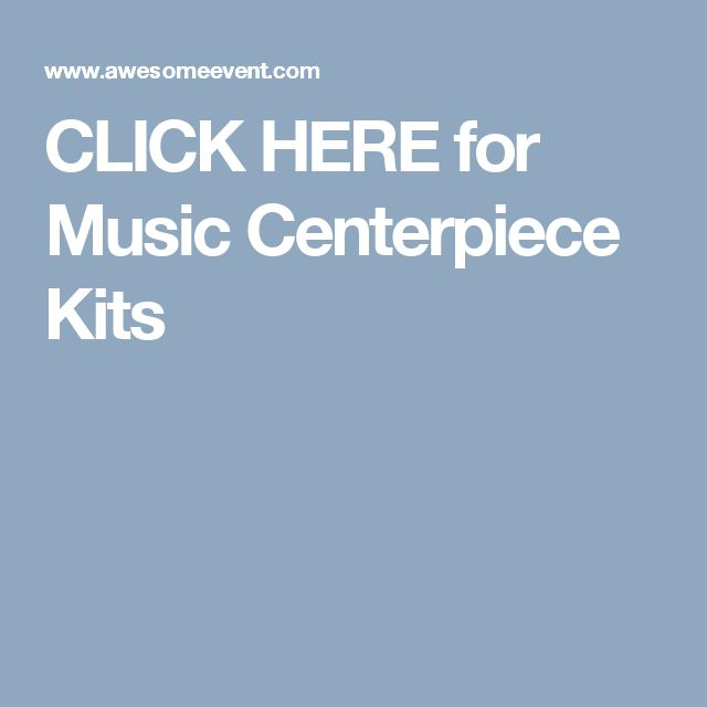 ideas about Music Centerpieces on Pinterest | Music party decorations ...