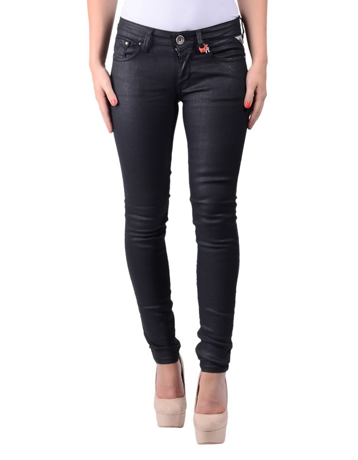 Replay Black Luz Leather Effect Skinny Jeans | Accent Clothing