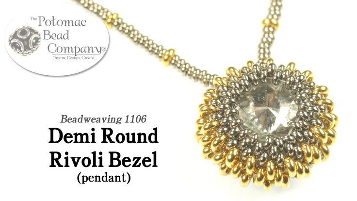 How to make a demi round Rivoli Bezel ~ Seed Bead Tutorials