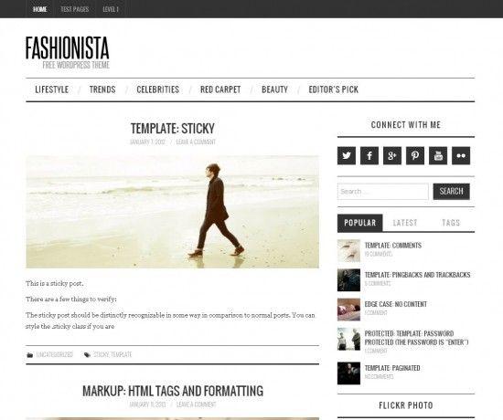 FOR BLOGS fashionista wordpress theme