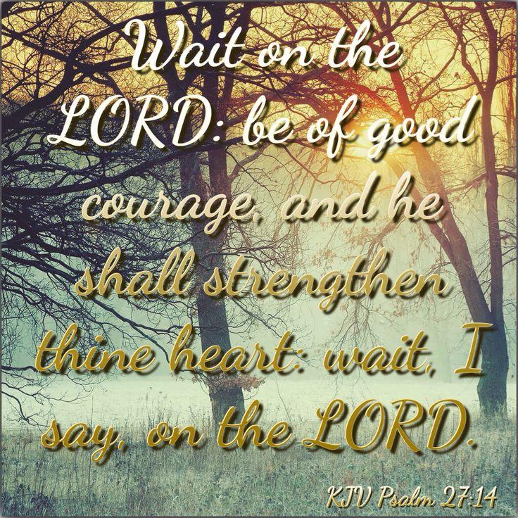 KJV Bible Verses - Psalm 27:14