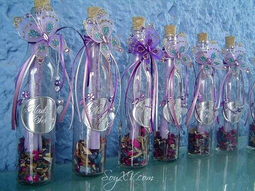 Invitacion en botella... Lila
