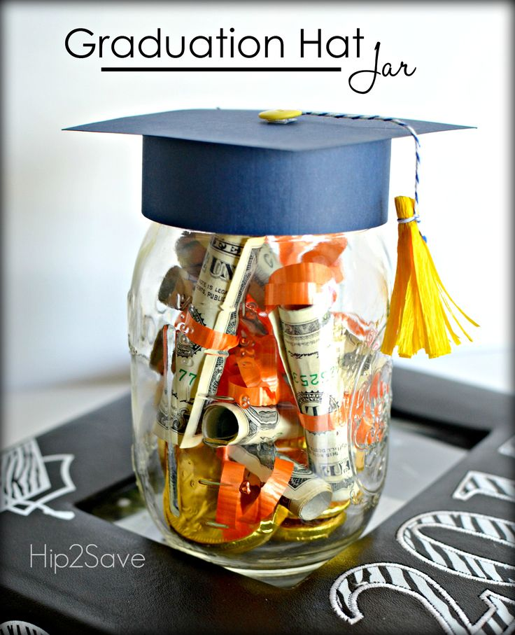 84 best grad ideas images on pinterest graduation ideas birthdays graduation hat jar graduation gift idea diy solutioingenieria Choice Image