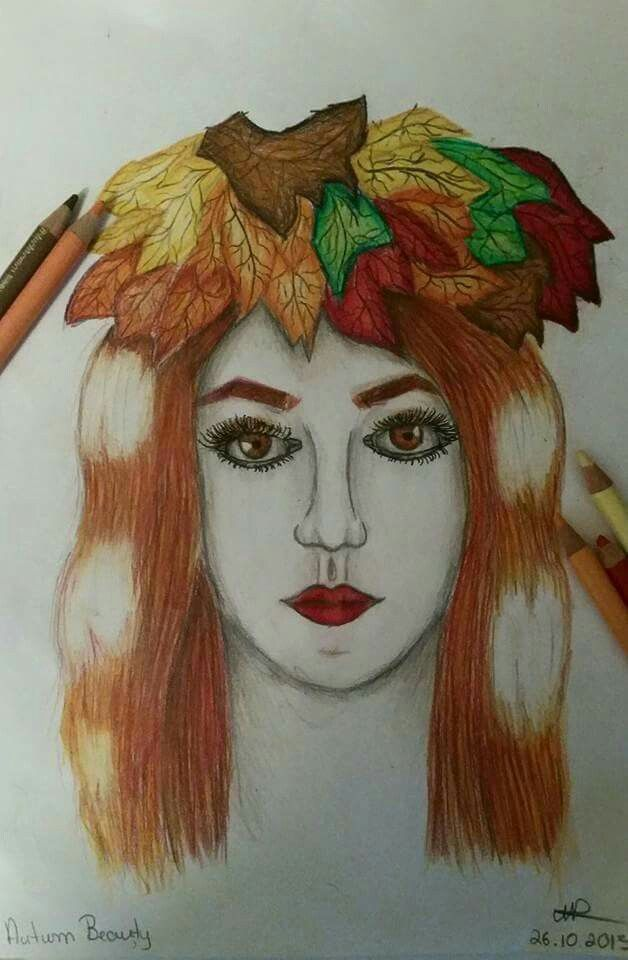 Autum Beauty (an old drawing)😋