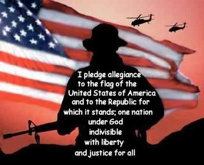 I pledge allegiance to the flag of the United States of America ...