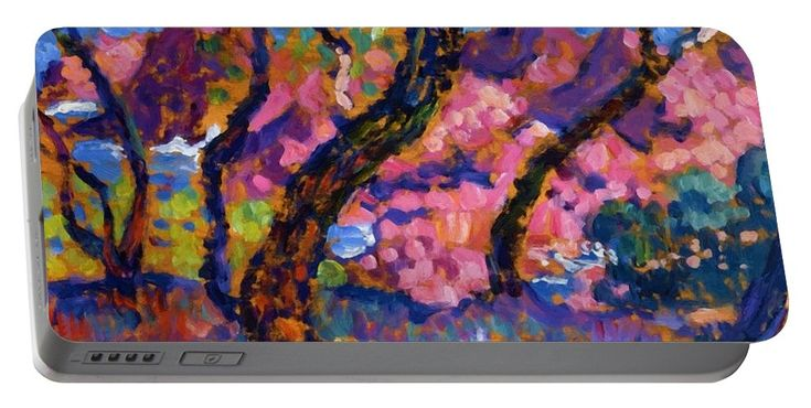In Portable Battery Charger featuring the painting In The Shade Of The Pines Study 1905 by Rysselberghe Theo van