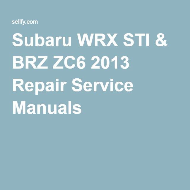 10 best hyundai repair service manuals images on pinterest ps subaru wrx sti brz zc6 2013 repair service manuals fandeluxe Image collections