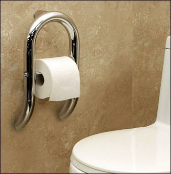 grab bar with toilet roll
