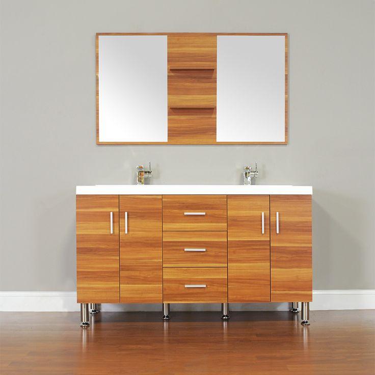 9 best alya bath at 8043 c 56 double modern bathroom vanity cherry images on pinterest for Modern bathroom vanities for less