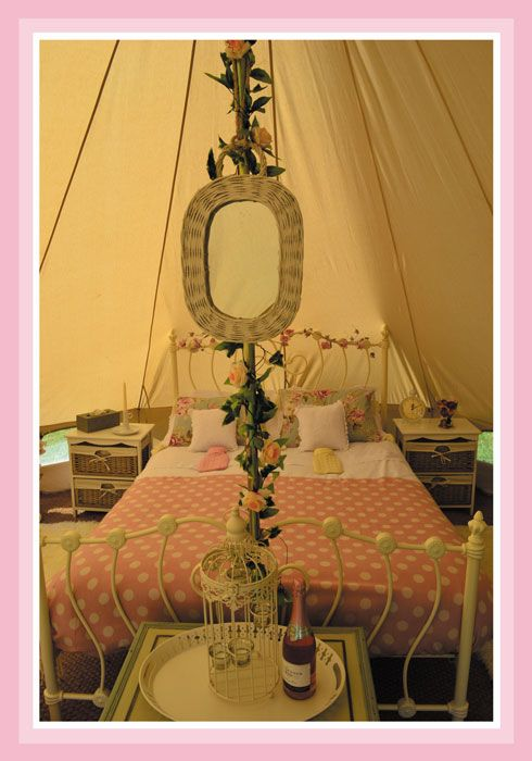 Love this bed in the Bell Tent how romantic for a special birthday or anniversary & 24 best Bell Tents images on Pinterest | Tents Barn wedding venue ...