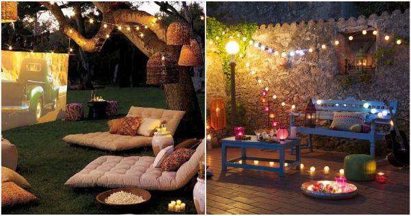 Cómo decorar un patio. Decoración de patios y jardines. Ideas para patios. Pérgolas, galerías, plantas, iluminación de exteriores.