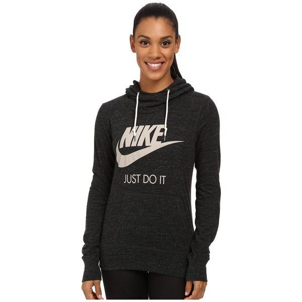 Nike Gym Vintage Hoodie Women's Sweatshirt ($55) ❤ liked on Polyvore featuring tops, hoodies, vintage hooded sweatshirt, nike hoodies, nike pullover, pullover sweatshirts and pullover hoodie