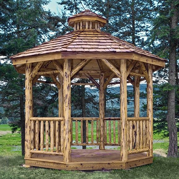 Rustic Log Gazebo By Montana Woodworks Dream For The