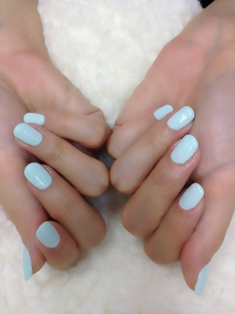Tiffany pastel blue nails - Nail Polish Inspiration - nails nailpolish beauty
