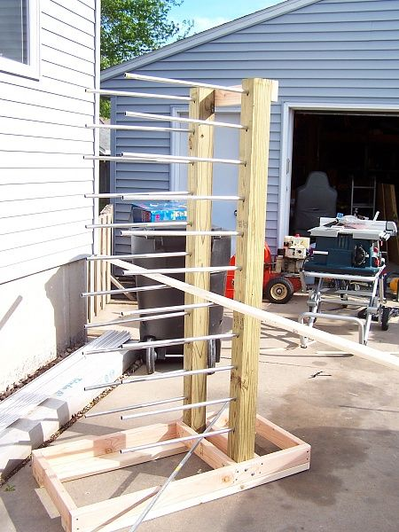 Cabinet Door Drying Rack ~ Cabinet door drying rack workshop just finish it