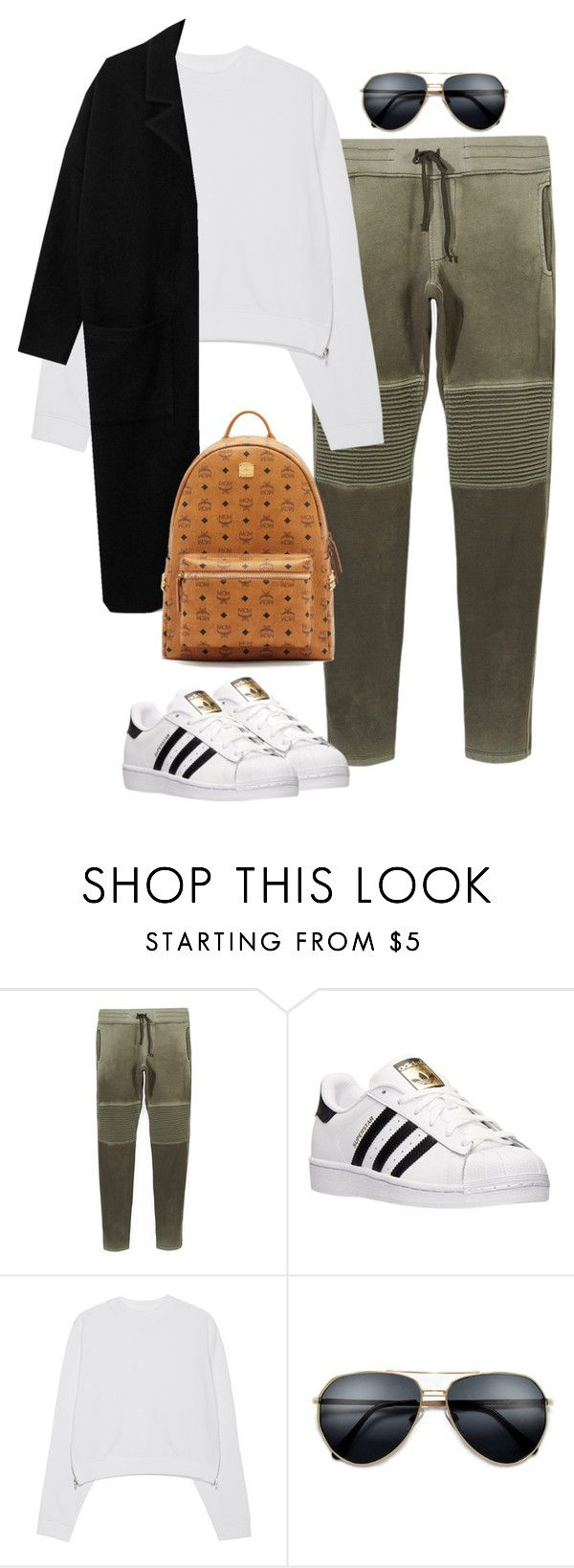 """""""Untitled #451"""" by christyandnef on Polyvore featuring Cotton Citizen, adidas, Acne Studios, MCM, women's clothing, women, female, woman, misses and juniors"""
