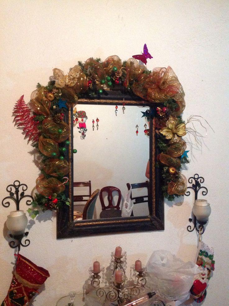 Decoración espejo Navidad