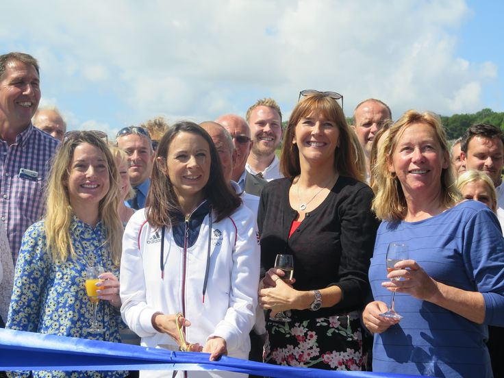 The Launch of our new Swimming Pool complex, refurbished Pebbles Restaurant and Jurassic themed Adventure Golf - Launched by Jo Pavey - June 2015