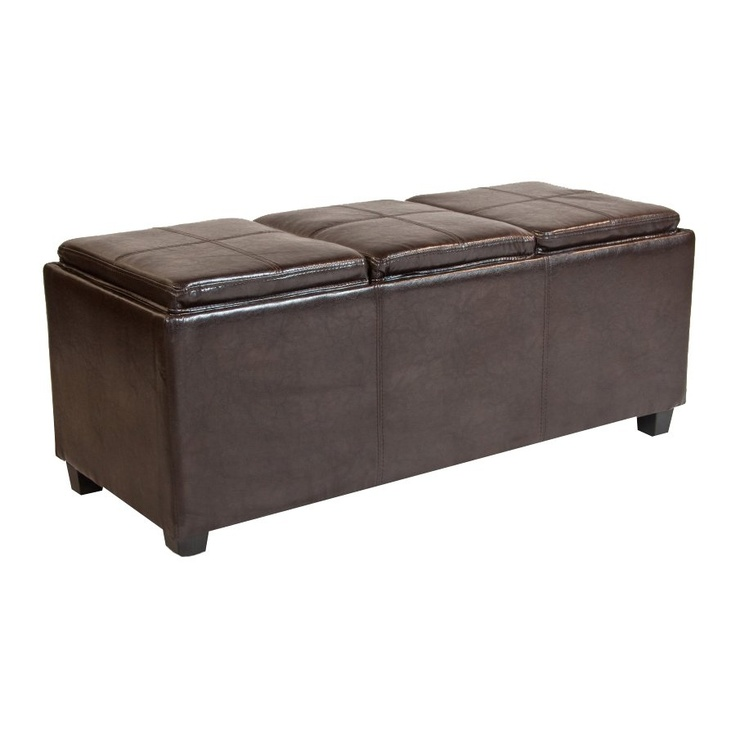 simpli home avalon large storage tray ottoman 2