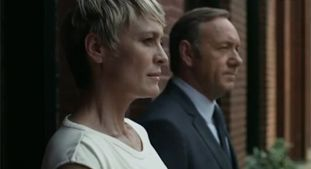 Robin Wright admits that even though she was encouraged to base the House of Cards character Claire Underwood on Hillary Clinton, she didn't want to.