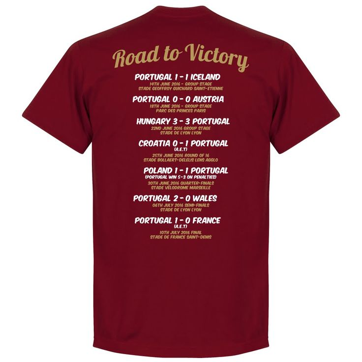 Portugal EURO 2016 Road To Victory T-Shirt