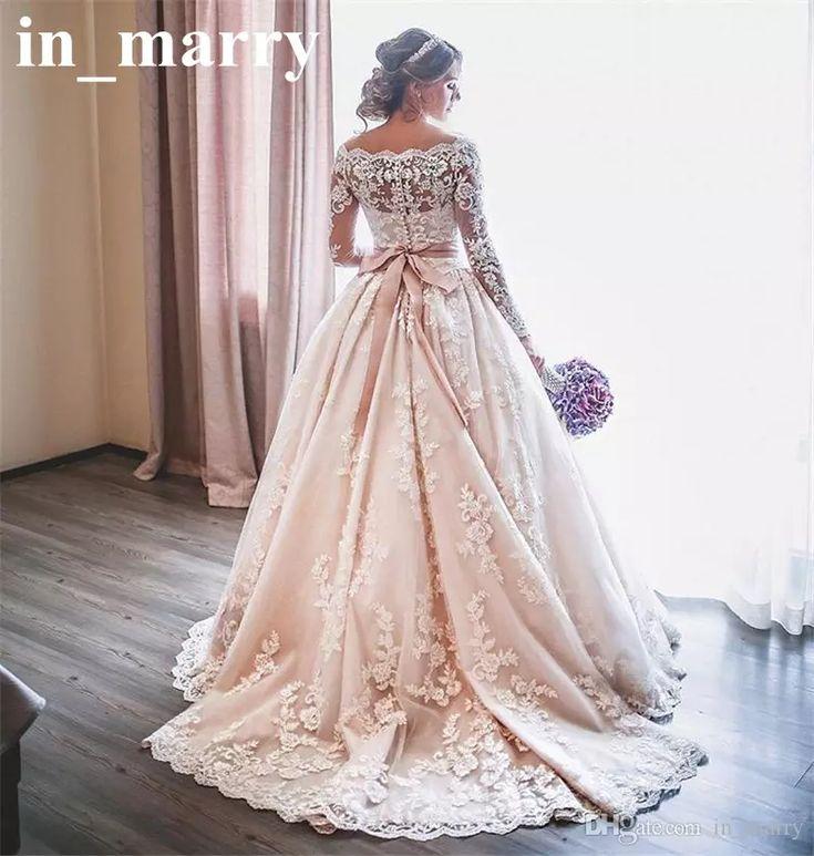 Blush Pink Lace Wedding Gowns: Best 25+ Blush Lace Wedding Dress Ideas On Pinterest