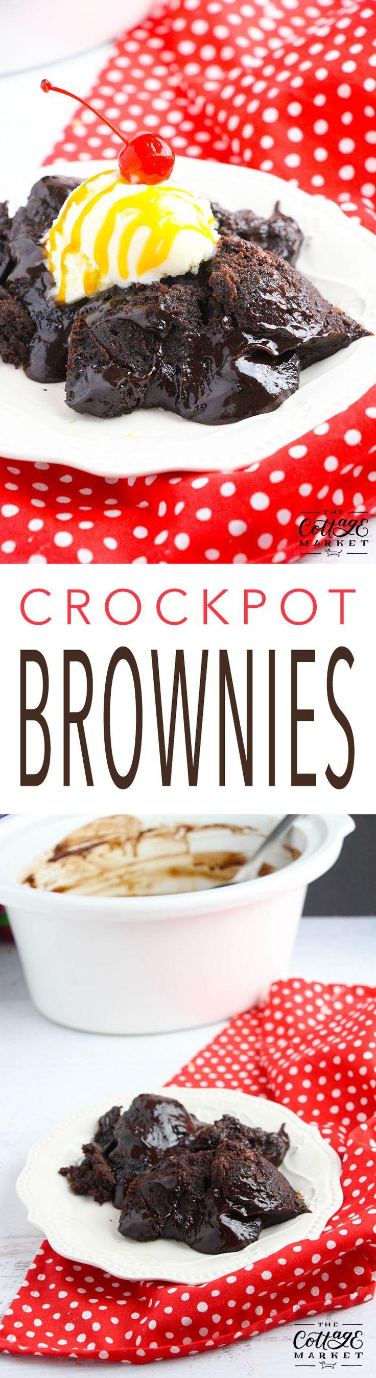 Crazy Easy Crock-Pot Brownies - The Cottage Market