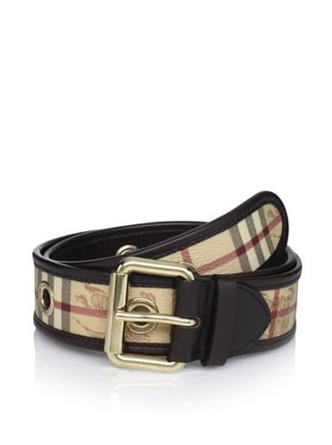 41% OFF Burberry Men's Plaid Belt (Brown Plaid)