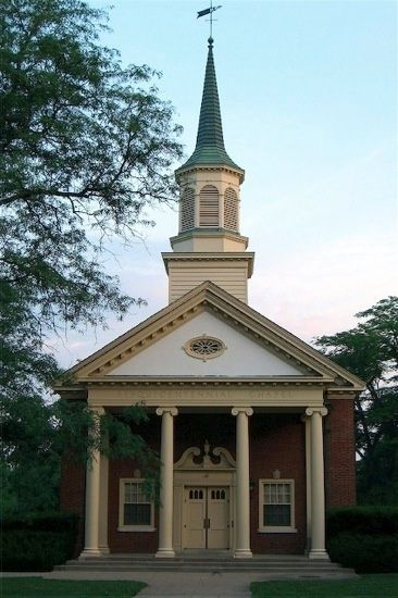 Sesquicentennial Chapel in Oxford, Ohio. Gift from Delta Zeta Sorority to celebrate Miami's 150th year.r.