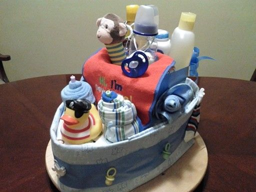 Boat diaper of cake