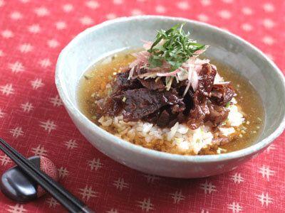 牛肉のしぐれ煮茶漬けの作り方(レシピ)