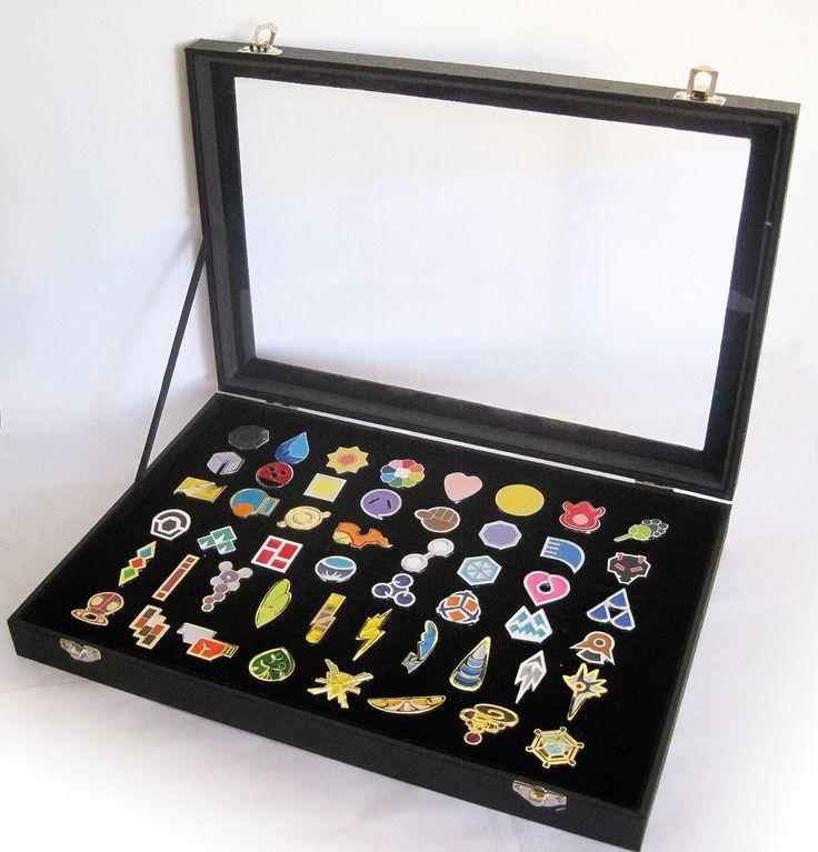 Amazon.com : Full Set of Pokemon Gym Badges with Glass Lid Display Showcase - Set of 50 Lapel Pin Badges : Everything Else
