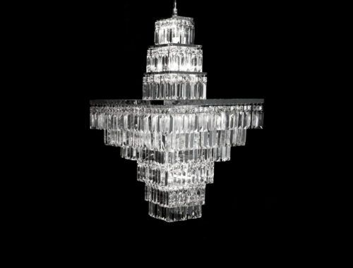 North Star – Square 9 Tier Chandelier