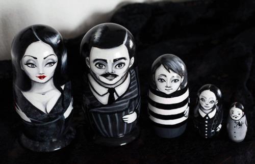 Addams Family nesting dolls!!