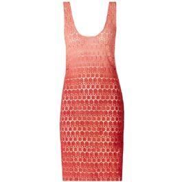 Vestido Guipure daya coral #moda #fashion #trend #tendencia #vestido #dress #desconto #sale #outlet #promocao #capitollium #bestdeal #primaver #spring #verao #social #lindo #beautiful