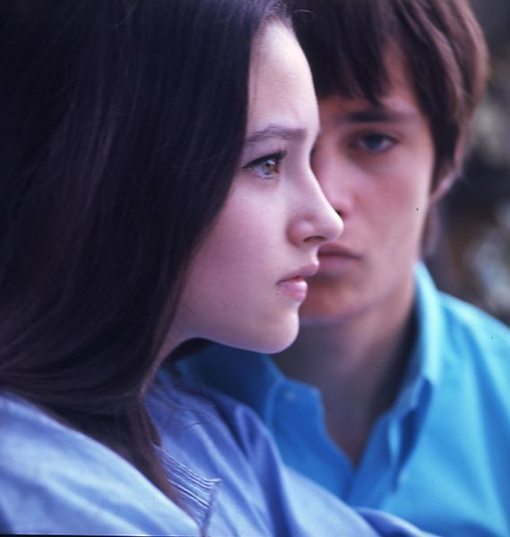Olivia Hussey& Withing in the film version, Romeo and Juliet