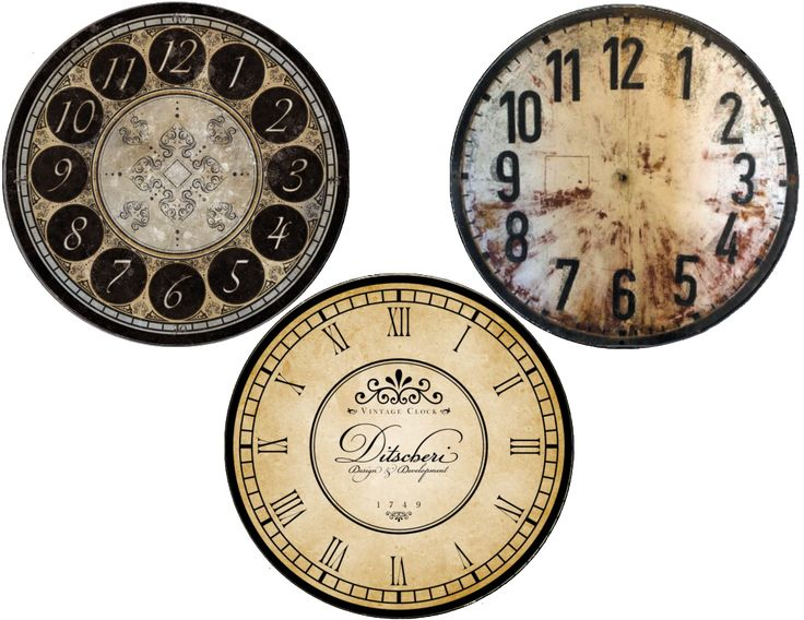New Years free clock face printables (cd size and plate) «