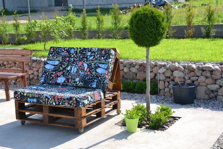Fotel z palet. Produkcja własna. Hand made pallet chair.