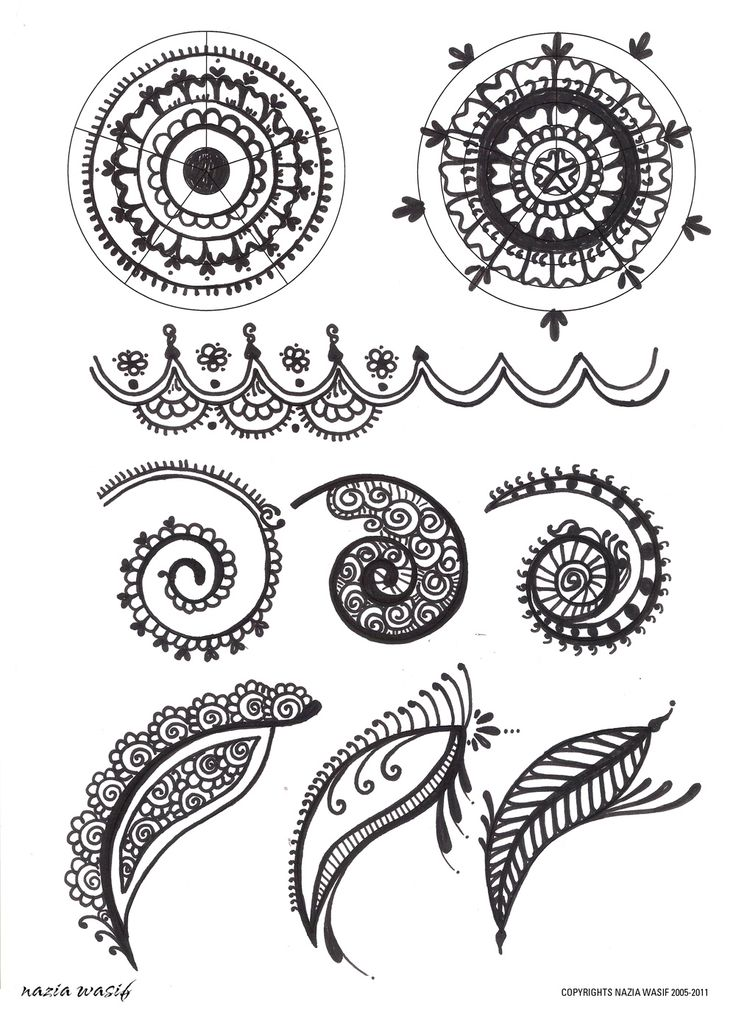Stock Vector Hand Drawn Intricate Mehndi Henna Tattoo Paisley Doodle