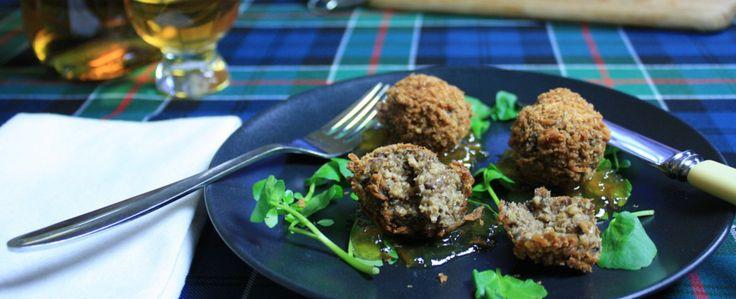 Burns Night haggis meatballs