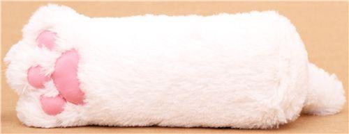kawaii white animal cat paw plush pouch wallet
