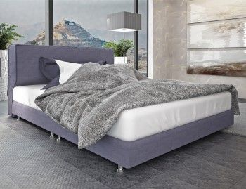 Nτυμένο Κρεβάτι DONNA με στρώμα 160x198cm. Διαστάσεις: 164x208cm. Σε μεγάλη ποικιλία υφασμάτων. Δυνατότητα κατασκευής και με αποθηκευτικό χώρο. Διαθέσιμο σε διπλό, ημίδιπλο και μονό.