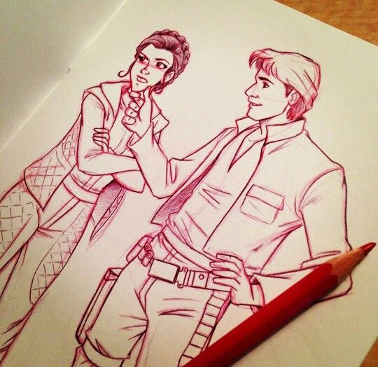 Princess Leia & Hans Solo Disney style.... it's already Disney, but oh well.