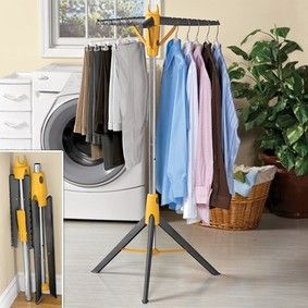 Pop Up Clothes Hanger @ Fresh Finds We have one similar that we use for beach camping.