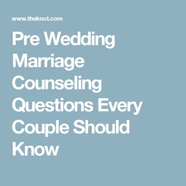 Pre Wedding Marriage Counseling Questions Every Couple Should Know