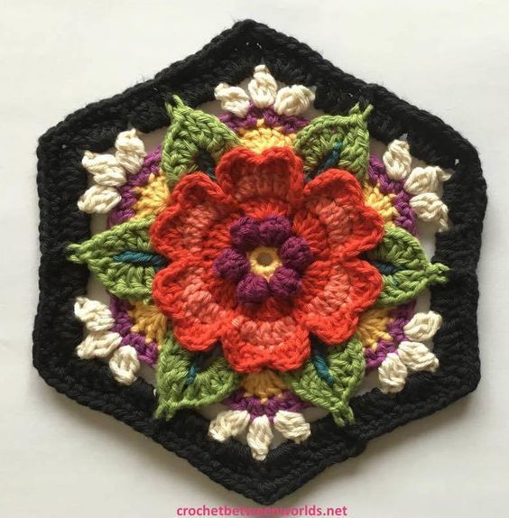 Crochet Between Two Worlds shares a free pattern for this gorgeous block.  Fridas Flowers CAL - Block 5 - Heart Rose   If you havent set up a Ravelry project yet the pattern page can be found here: http://ift.tt/29Ddf6S